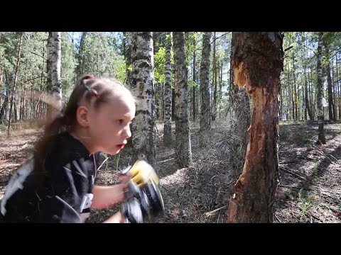 Dana McKenzie - Little girl punches down a tree with her boxing skills!
