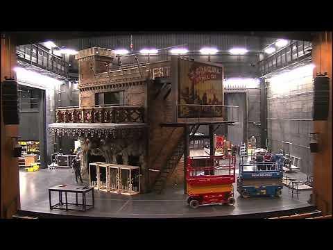 Zeitraffervideo Aufbau Bühnenbild Faust