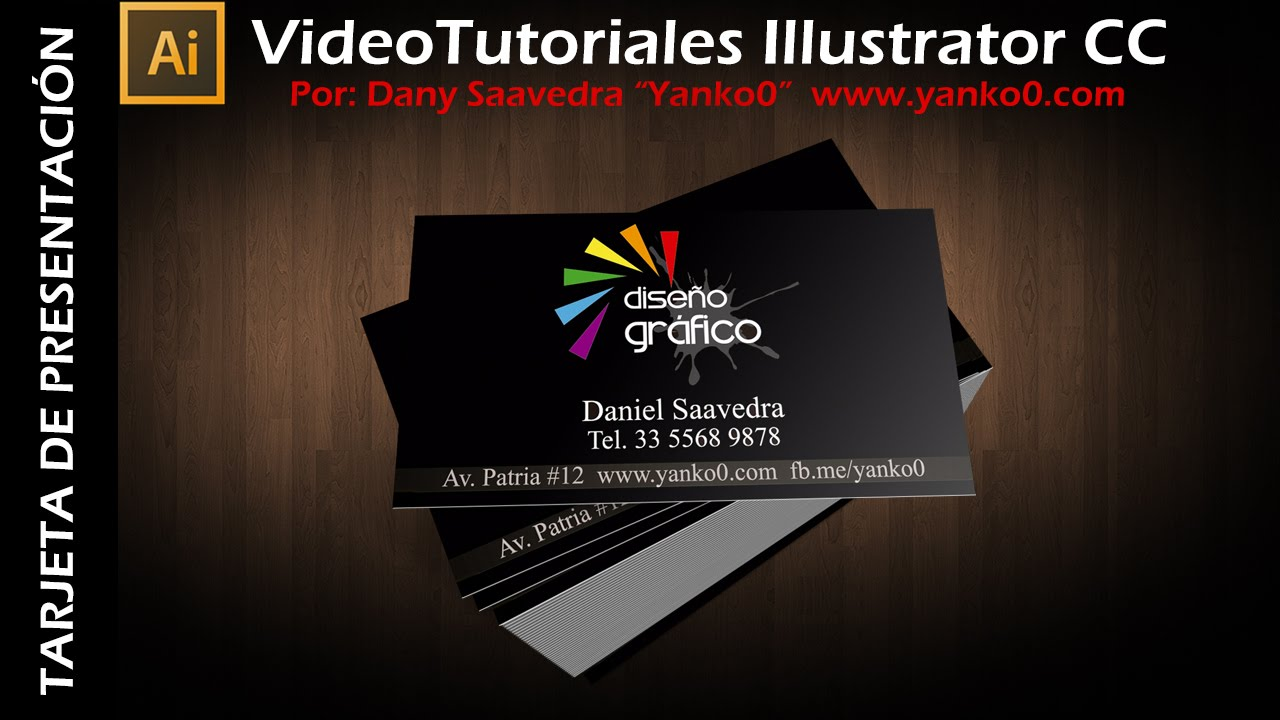 Tarjeta de presentación Videotutorial Illustrator by Yanko0 - YouTube