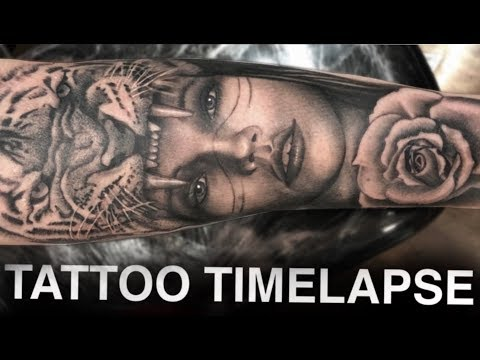 TATTOO TIMELAPSE | TIGER HEADDRESS | CHRISSY LEE