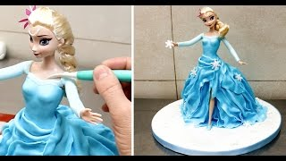 How To Make A Frozen Elsa Princess Cake/Pastel Frozen