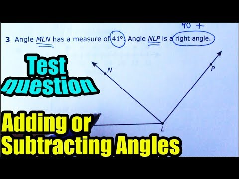 Determine the measurement of an angle by adding or subtracting two angles - 4th grade Math