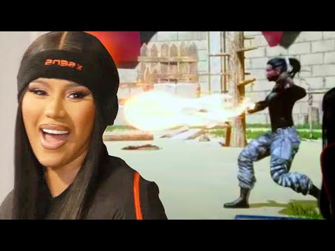 Cardi B CHALLENGES Offset to a Video Game Face-Off!