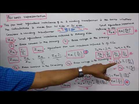 PER UNIT REPRESENTATION - PART - 01 - INTRODUCTION