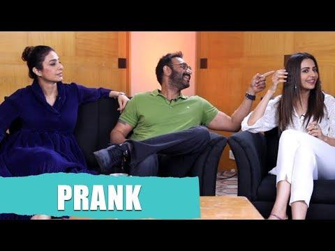 PRANK Moment With Ajay Devgn, Tabu and Rakul Preet | De De Pyaar De movie Mp3