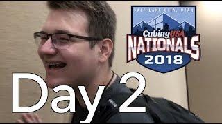 CubingUSA Nationals 2018 Competition VLOG! [Day 2]