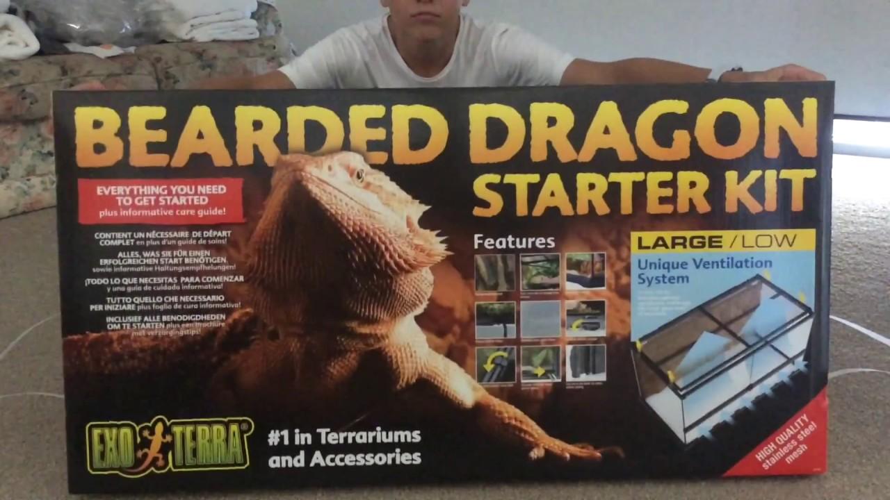 Exo Terra Bearded Dragon Starter Kit Unboxing Youtube