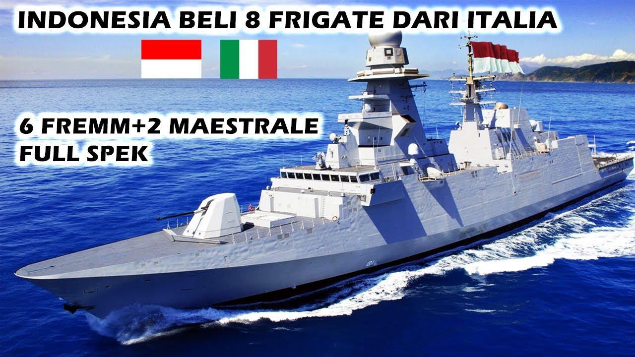 MANTAB!! INDONESIA TELAH RESMI MEMBELI 6 KAPAL FRIGATE FREEM+2 MAESTRALE DARI ITALIA