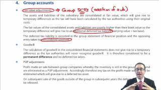 ACCA P2  Deferred tax - Group accounts