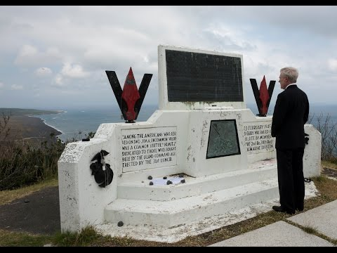 SECNAV delivers remarks at the 70th anniversary of The Battle for Iwo Jima in Iwo To, Japan.
