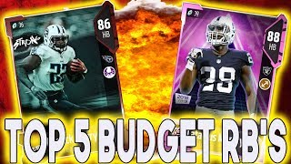 TOP 5 BUDGET RUNNING BACKS MADDEN 18 ULTIMATE TEAM