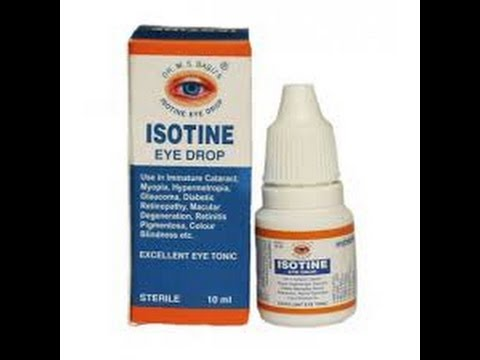 Капли Isotine, без операционное восстановление зрения, 10 мл. Тайские штучки.