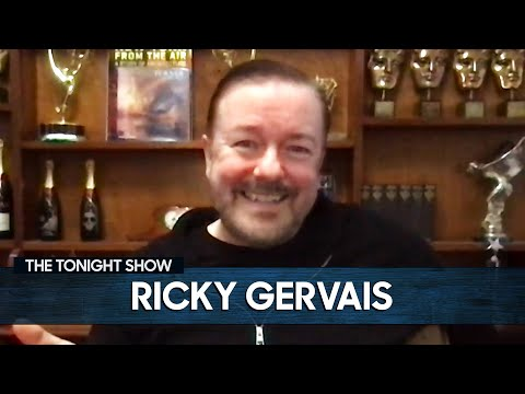 Ricky Gervais Would Fight an Old Lady for the COVID-19 Vaccine