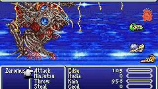 Final Fantasy IV Advance Lowest Level Game: Last Boss Zeromus