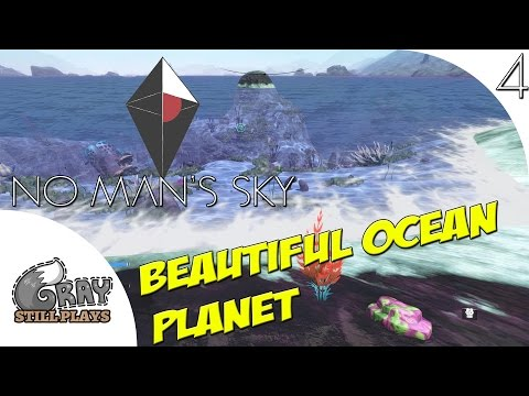 No Man's Sky 1.03 PC | Beautiful Sandy Beach Ocean Planet, Underwater Creatures | Part 4 | Gameplay