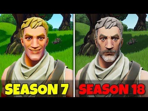 Fortnite Skins in Season 7 vs Season 18!