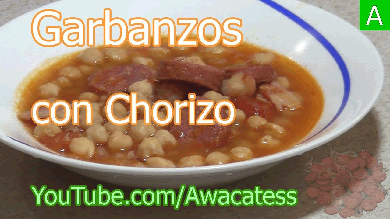Garbanzos guisados con chorizo y tocino recetas de cocina for Rectas de cocina faciles