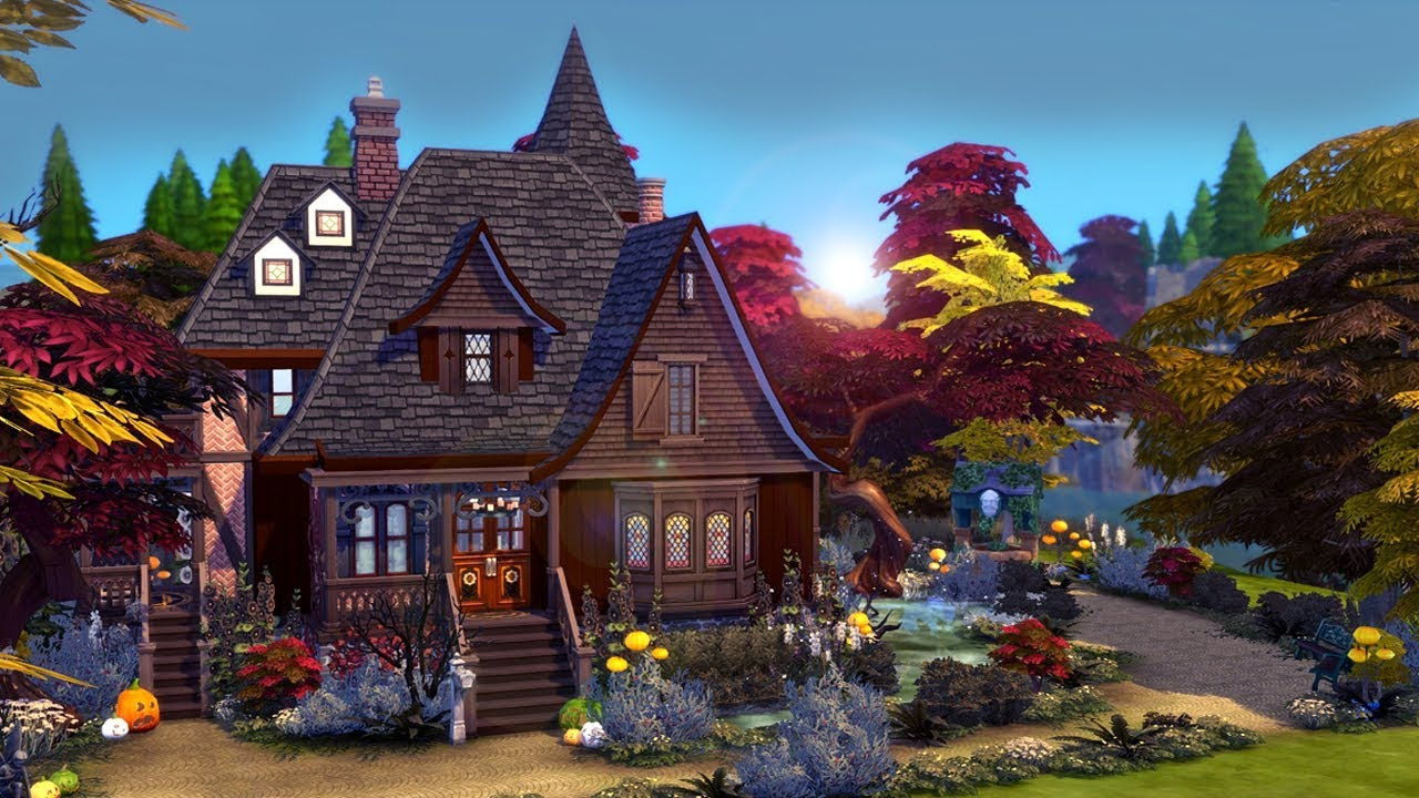 Witch S Cottage The Sims 4 Speed Build Youtube