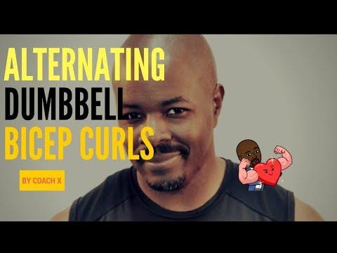 Bicep Workout  - Alternating Dumbbell Bicep Curls for Firmer Biceps