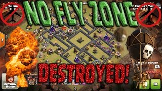 Popular TH9 NO FLY ZONE Destroyed! Queen POP LaLoon Best Air Attack Clash of Clans