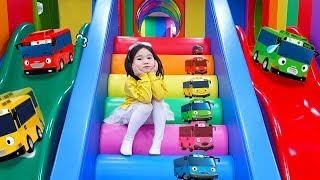 [타요 버스 키즈카페]타요 키즈카페에 불리가 나타났다고?보람이의 실내 놀이터 자동차 장난감 색깔놀이 Tayo Bus for Kids Indoor Playground