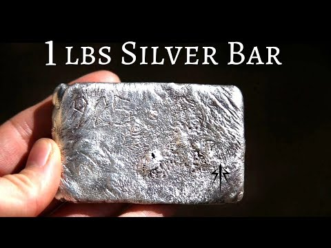 Casting 1 pound Silver Bar