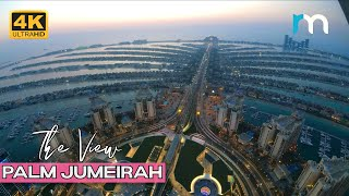 [4K] Time Lapse of The View at Palm Jumeirah #short