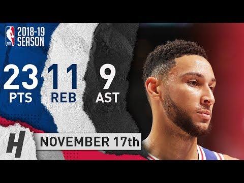 Ben Simmons Full Highlights 76ers vs Hornets 2018.11.17 - 23 Pts, 9 Ast, 11 Rebounds!