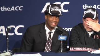 Repeat youtube video Jameis Winston Postgame: ACC Championship Game
