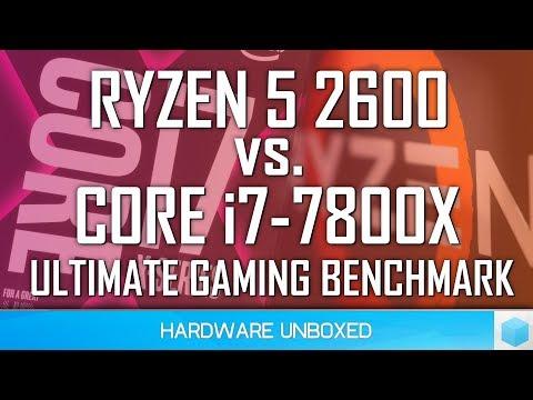 Core i7 7800X vs. Ryzen 5 2600, 37 Game Benchmark: PUBG, Fortnite, Rainbow Six Siege & Lots More!