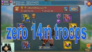 zero 14m troops game lords mobile viet nam 😱😱😱
