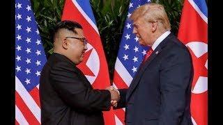 President Trump, Kim Jong Un meet face to face, shake hands at historic summit