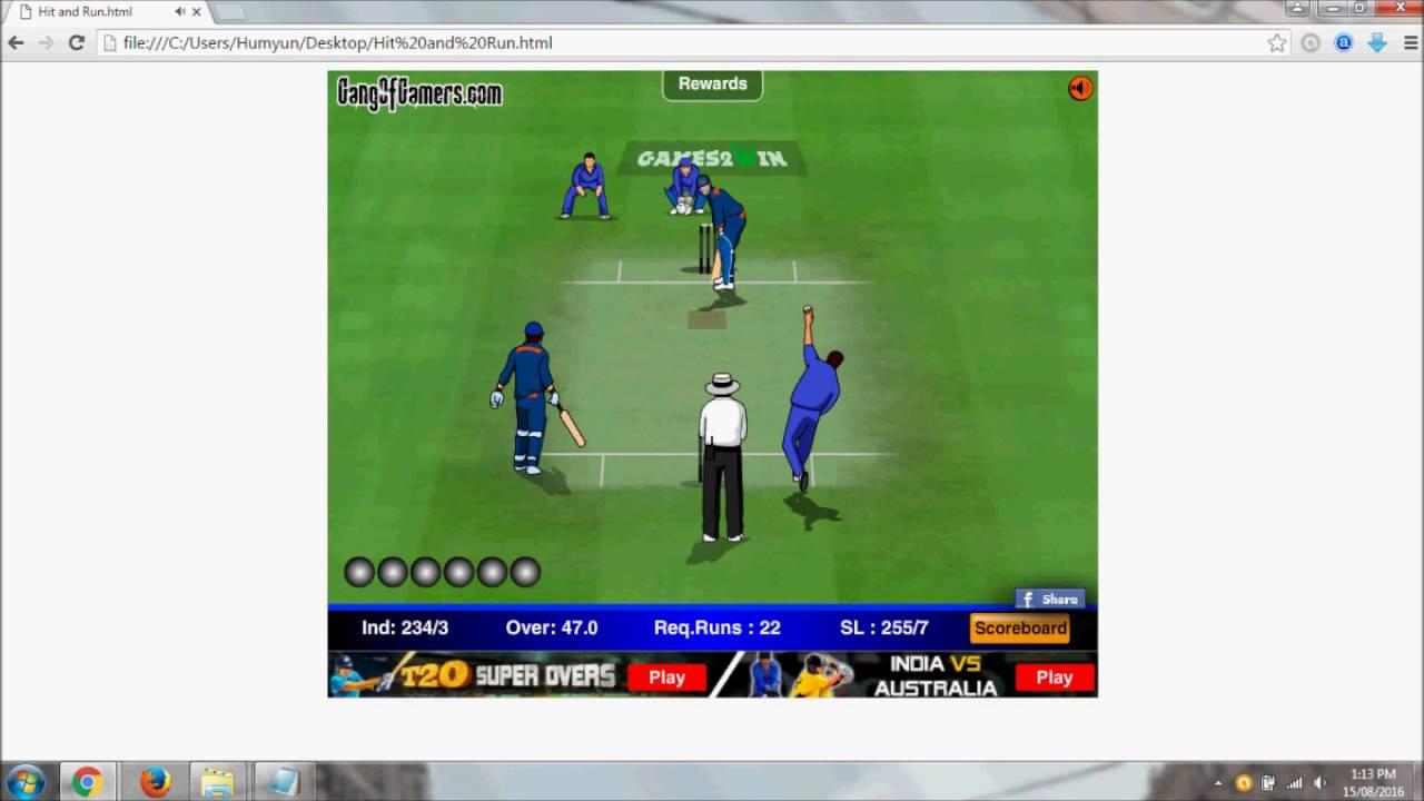 Hit and run cricket game walkthrough
