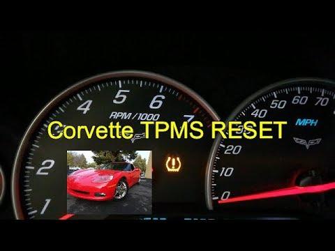 How To Reset Chevrolet Corvette Tire Pressure Light Tpms W