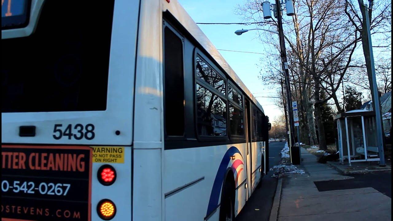 Njt Bus Manhattan Bound Nabi 40sfw 5438 Route 171 At