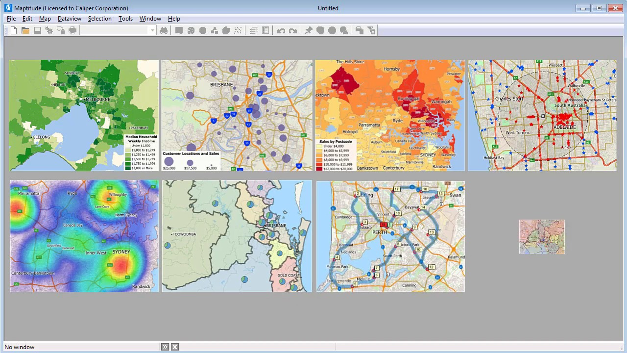 Maptitude Mapping Software for Australia - GIS Software