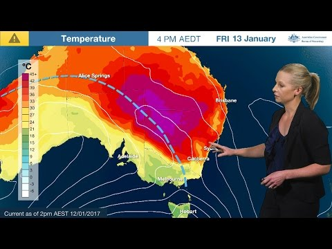 ⚠Weather Update: Heatwave In Qld And NSW; Heavy Rain In SA, 12 Jan. 2017