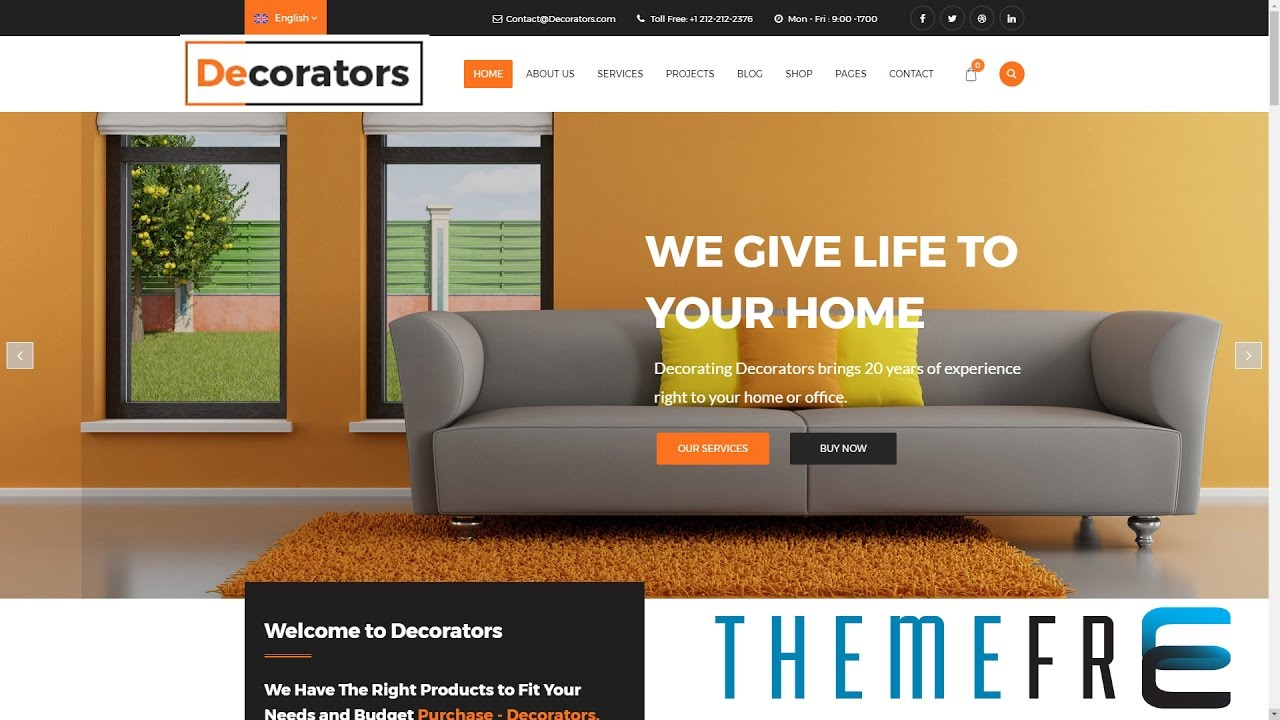 DECORATORS Wordpress Theme for Architecture, Modern Interior, Design ...