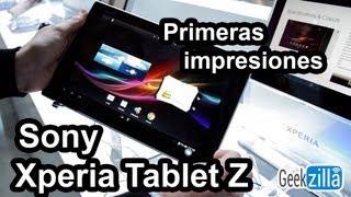 Sony Xperia Tablet Z Primeras impresiones MWC 2013