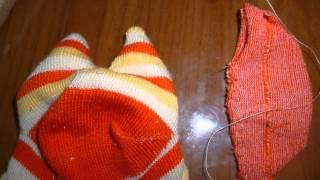 как сделать котенка из носка