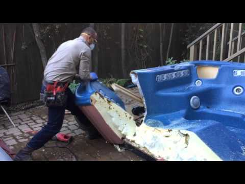 Laguna Beach Spa Removal (Hot Tub, Jacuzzi Demolition job)