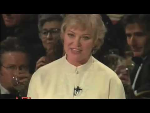 Louise Fletcher salutes Jack Nicholson at the American Film Institute