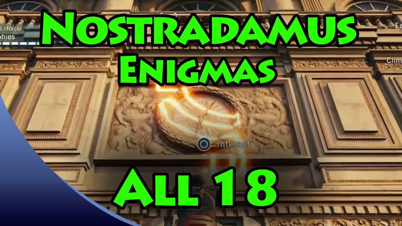 Assassin's Creed Unity - Nostradamus Enigma Solutions [All 18] Puzzle  Locations (From the Past)