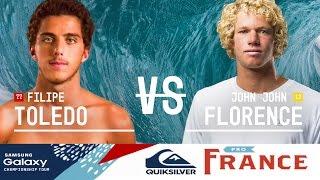 Filipe Toledo vs. John John Florence - Quiksilver Pro France 2016 Quarterfinals
