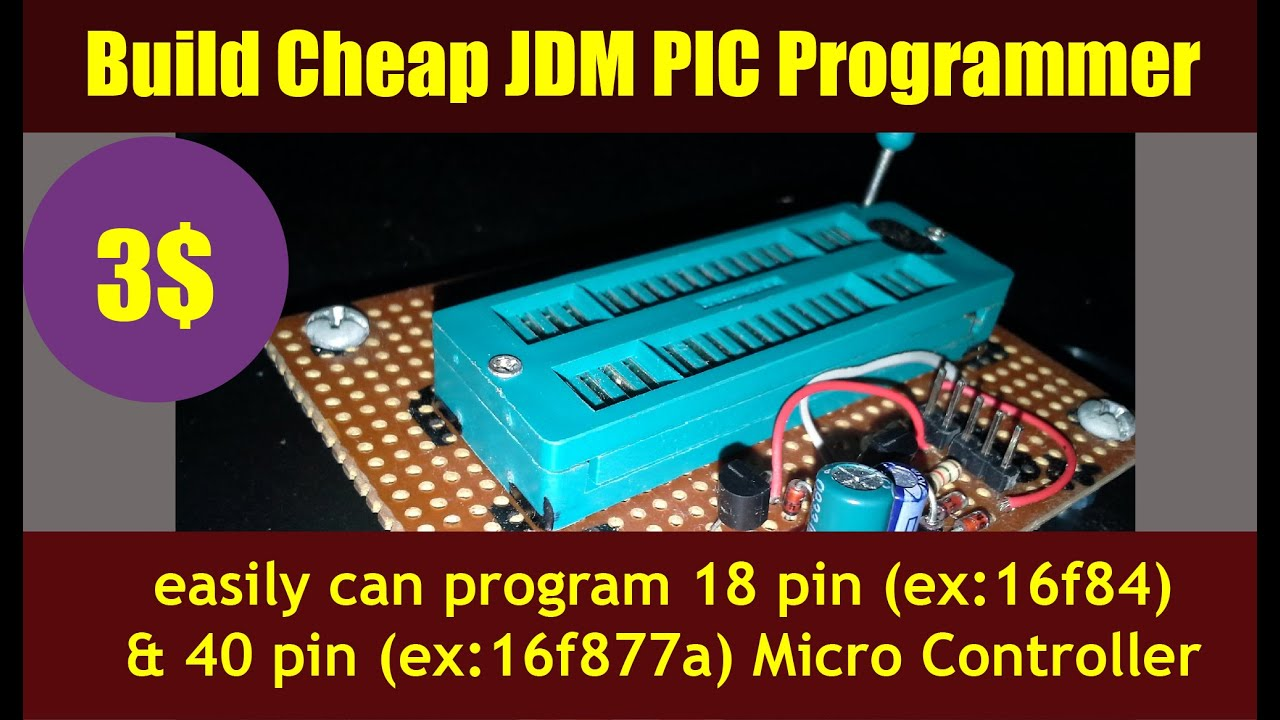 build cheap jdm pic programmer pic under 3 circuit download [ 1280 x 720 Pixel ]