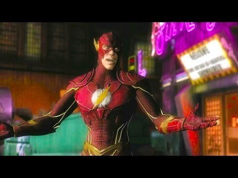 Injustice Gods Among Us Flash Vs Shazam Gameplay