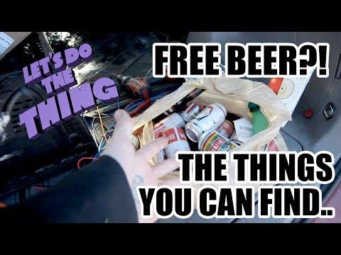 Free Beer?! Nice Find In The Garbage!