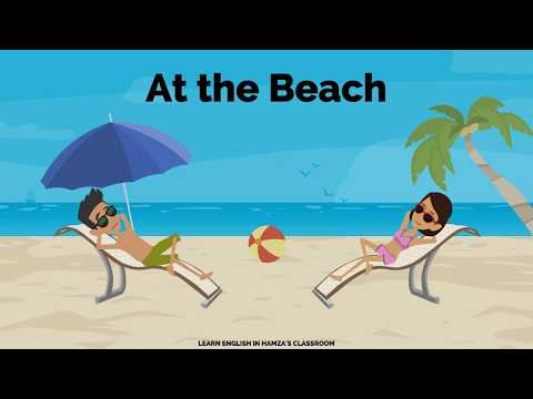 at-the-beach- -learn-english- -daily-english-conversations