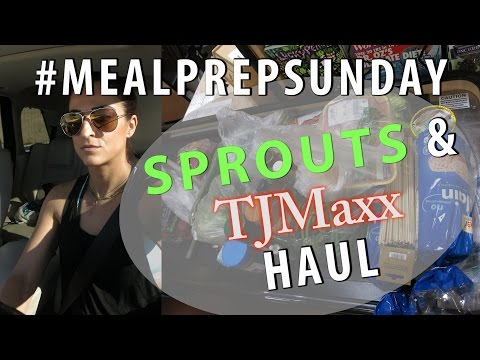 Sprouts Grocery Trip & Haul, Travel Necessities from TJMAXX|#MealPrepSunday|#ShanaEmily