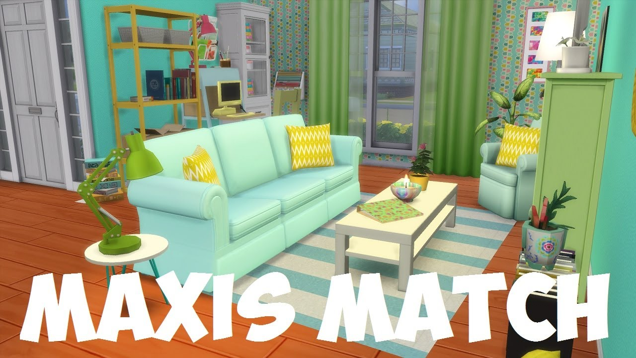 The sims 4 maxis match house cc speed build youtube for Furniture 4 your home